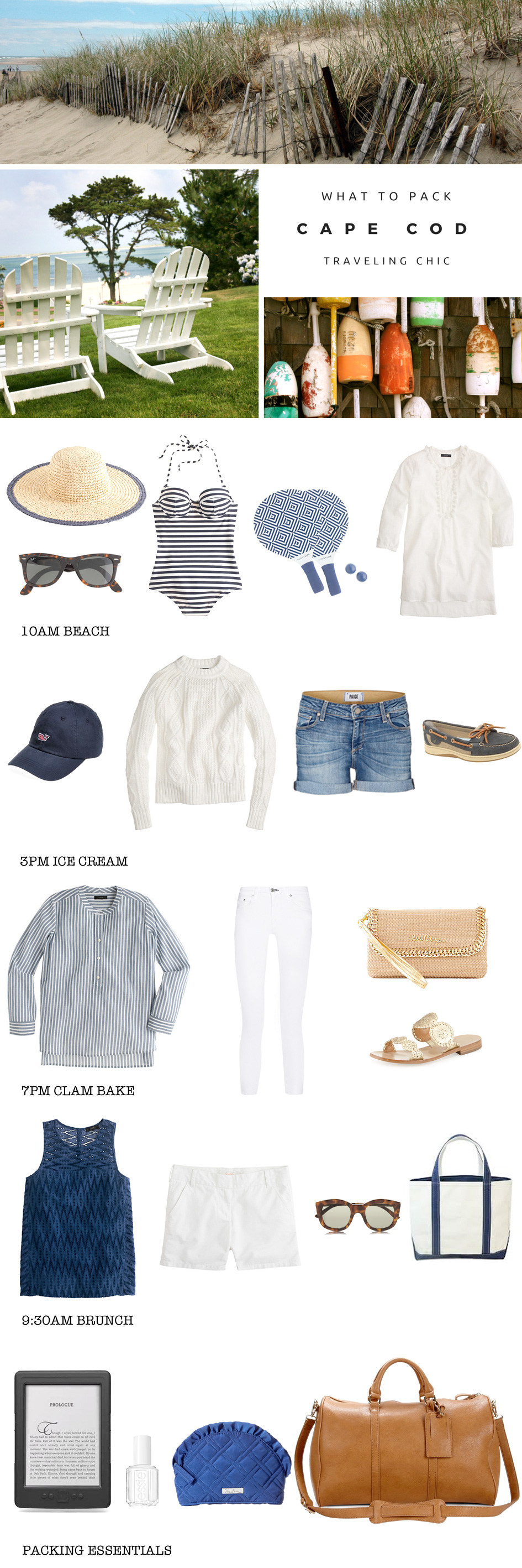 What to Pack for Cape Cod