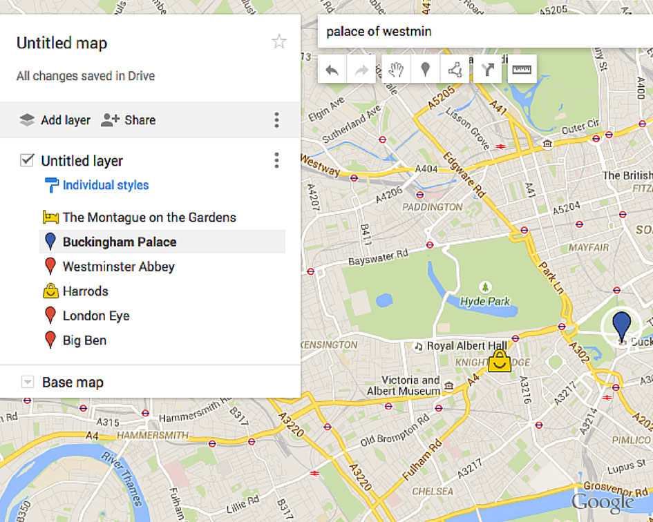 How To Create A Custom Google Maps Itinerary Use It Offline - How to change color of google map