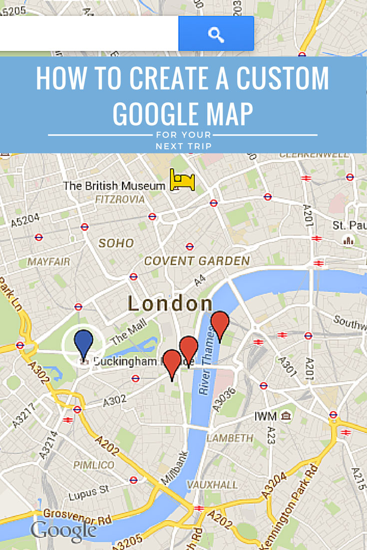 How to create a custom google maps itinerary use it offline google map gumiabroncs Gallery